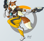 Roverwatch: Colleen As Tracer by StrikerSA