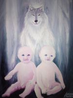 The wolf of Rome, Romulus and Remus by CORinAZONe