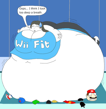 Inflated Gardevoir Ironic Wii Fit Trainer...