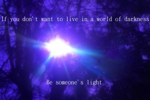 Be Someone's Light poster by MsnowAbstracts