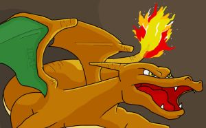 Angry charizard by May-Lene