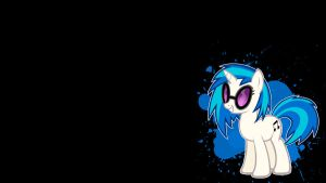 Vinyl Scratch Simple Wallpaper by Juakakoki