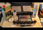 The Materials I use for Repaintings by MySweetQueen-Dolls