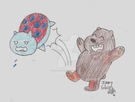Catbug vs. Cubby Grizz by CelmationPrince