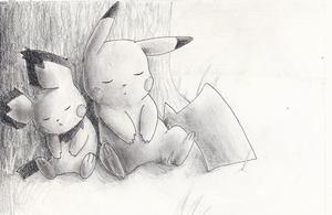 Sleeping Pikas by wanton-fox