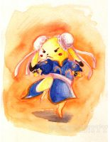 Pikachu as Chun-Li by Pogofinity