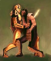 Cyrax vs Scorpion by andrzejBG