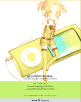 Yellow iPod Journal Skin by double-rainbow-chan