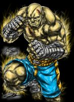 Sagat by TheKidOfDrawing