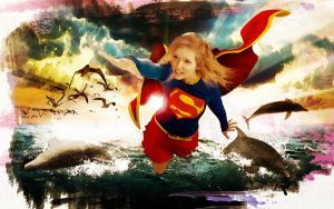 Supergirl in Watercolor by artifice22