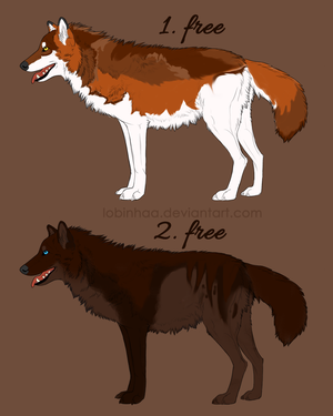 wolf adoptables Free CLOSED by Lobinhaa