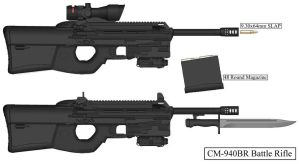 Coalition States CM-940BR Battle Rifle by MasterMikel