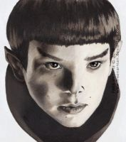 Two Worlds - Spock by FreeNarnian