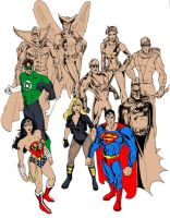 JLA 2008 - 1st colors by DragonArcher