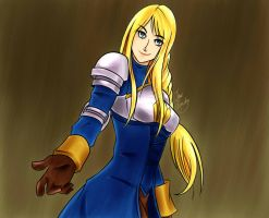 Agrias Oaks from Final Fantasy Tactics by HowlRavindel