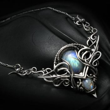 LEEXANTH Silver and Moonstone by LUNARIEEN