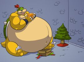 A Swell X-mas gift for Bowser Jr by RickyDemont