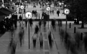 Canary Wharf: Rush Hour by Morris-Photograms