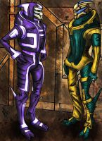 Two Turians with Omega by Yanarada