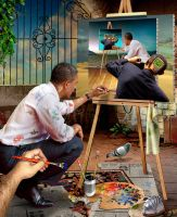 Obama Painting by funkwood