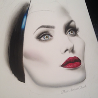 Maleficent - Angelina Jolie WIP by KirstenLouiseArt