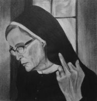 Sister Jude drawing - American Horror Story by lyyy971