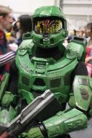 close up of master chief halo 4 by deviant-ant