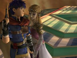 Ike and Zelda by LilLaura6789
