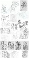 Sketches. part 2 by Deygira-Blood