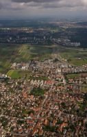 Stuttgart from the air by archaeopteryx-stocks