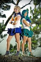 Uranus and Neptune by NovemberCosplay