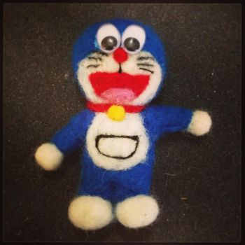 Needle Felting: Doraemon by Avi-Ayuni