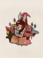 MARRY AND HER RABBIT EARS by bloodykirka