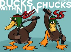 Ducks with Nunchucks by GagaMan