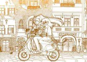 Streets -lineart- by Keed-Kat