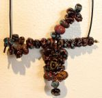 wired lampworked beads by free-zero