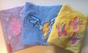 MLP Towels with very big embroidering by GrayTheZebra