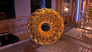 Torus Spiral in Gold by Tate27kh