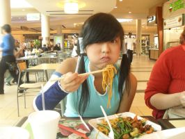 Om nom nom mmm Watertribe noodles -Legend of Korra by xMissPanda