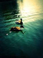 Two Duck Chillin' in The Water by MiserySyndromex3