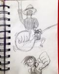 A Few Different Sketches of Luffy. by BigJaa