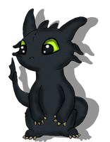 Toothless by wolfishmeow