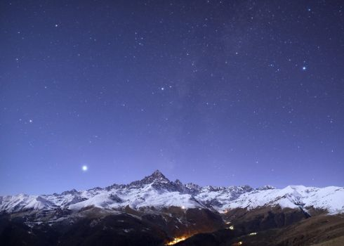 Mount Viso moonlight by morglin