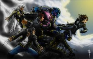 xmen by YamaO and Orozco by hairlessmonkee