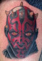 Darth Maul of Star Wars by dedmetal