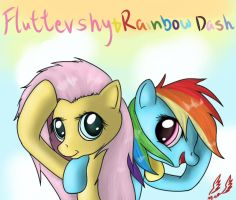 Flutters and Dashie by Miokomata