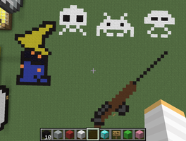 Gun,Space Invaders And Something... MInecraft by princesszelda224