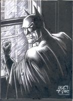 Batman con sketch by RougeDK