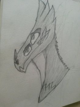 Dragon Head (finished sketch) by Draconic-Artist