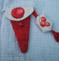 Berry scissors fob and Cherry scissors case by Magical525